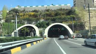Driving in Tehran, Iran, Highway, March 2014