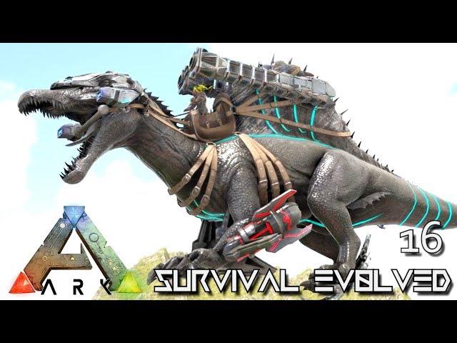 ARK: SURVIVAL EVOLVED - EPIC TEK SPINO BOSS TAME SPINEBREAKER !!! E16 (MODDED ARK PUGNACIA DINOS)