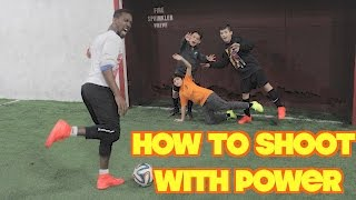 How to improve shooting power - Leg Exercises & Drills for Footballers & GIVEAWAY