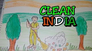 Drawing tutorial : Drawing on swachh bharat | clean india drawing [creative ideas]
