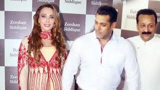 Salman Khan And Lulia Vantur At Baba Siddiqui Iftar Party 2017