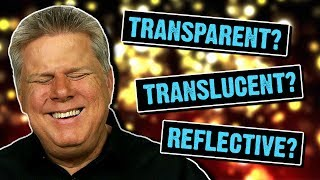 Do Blind People Understand Transparent, Translucent, and Reflective Things?