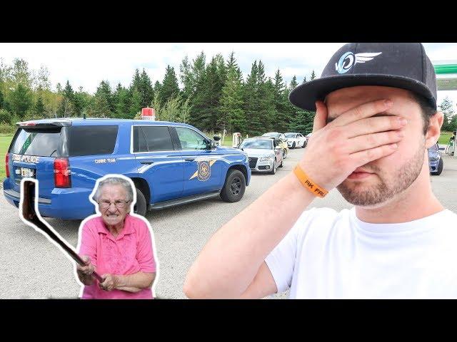 ANGRY OLD LADY CALLS COPS ON LAMBORGHINI!