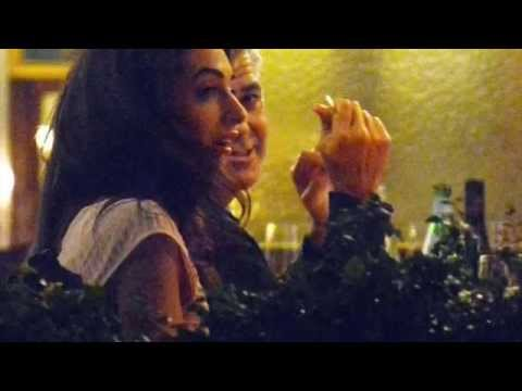 Xxx Mp4 George Clooney And Fiance Amal Alamuddin With Candlelit Dinner In Venice Italy 3gp Sex