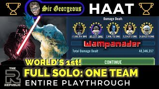 ONE TEAM CLEARS HAAT: Full Solo- Wampanader | SWGOH | Sir Georgeous Games