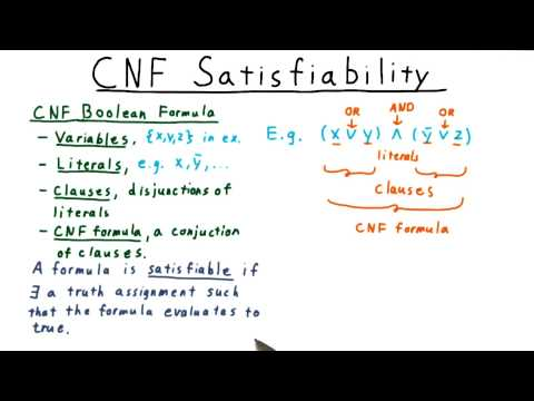 CNF Satisfiability - Georgia Tech - Computability, Complexity, Theory: Complexity