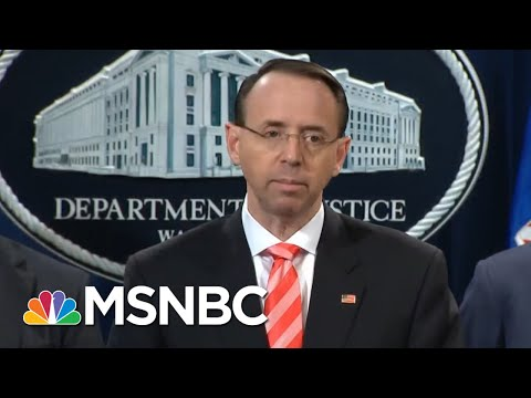 DOJ Gets Wise About GOP Efforts To Tip Off President Trump On Mueller Probe Rachel Maddow MSNBC