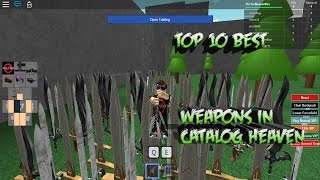 roblox catalog heaven how to get banned weapons 2017