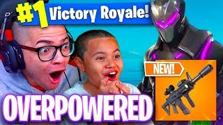 *NEW* THERMAL WEAPON MIGHT GET ME BANNED 🔥! NEW COLOR OMEGA! FORTNITE BATTLE ROYALE! 9 YEAR OLD KID