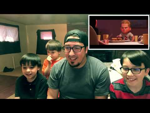 Kids Reaction video!!  First ever!!!!  Incredibles 2 Official trailer (2018)