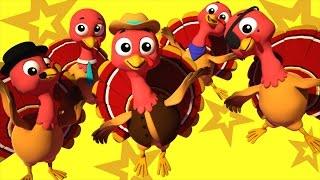 five little turkeys | nursery rhymes Farmees | kids songs | childrens rhymes