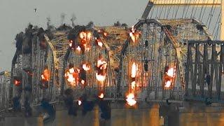 Eggner's Ferry Bridge Spans B, C, D & E over Kentucky Lake - Controlled Demolition, Inc.