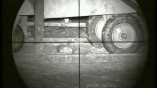 Pig Farm Rat hunting 9 using an Air Arms S410k air rifle and a Nitesite NS200