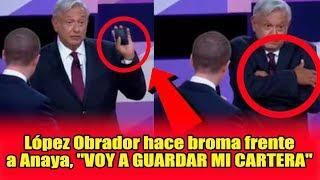 Broma de López Obrador a Ricardo Anaya