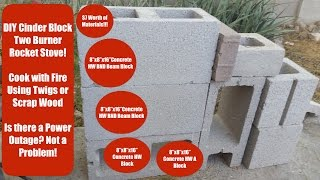 $7 DIY Cinder Block Rocket Stove! Cook With Fire! Cook Without Electricity!