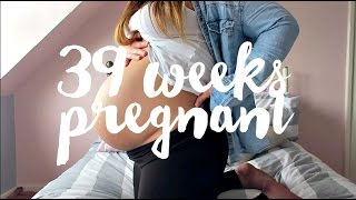 39 WEEKS PREGNANT - BABY IS ENGAGED, BUMP SHOT & PREGNANCY UPDATE