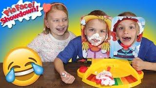 Pie Face Showdown || Family Game Night