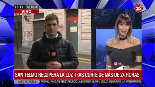 Canal 26 - DE 13 A 15 Con S. Dumont, G. Rodríguez Y V. Ressia - Miles De Familias Sin Luz