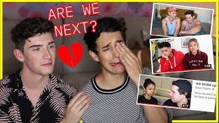 """Gay Couple Reacts to """"WE BROKE UP"""" COUPLE'S VIDEOS *emotional*"""