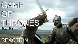 Game of Thrones S6 E3 Reaction!!