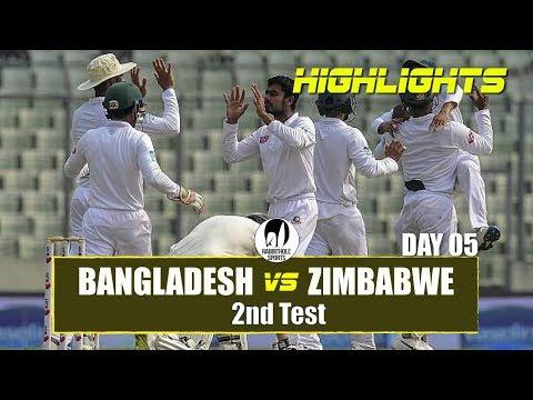 Xxx Mp4 Bangladesh Vs Zimbabwe Highlights 2nd Test Day 5 Zimbabwe Tour Of Bangladesh 2018 3gp Sex