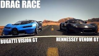 BUGATTI VISION GT VS HENNESSEY VENOM GT DRAG RACE | ASSETTO CORSA