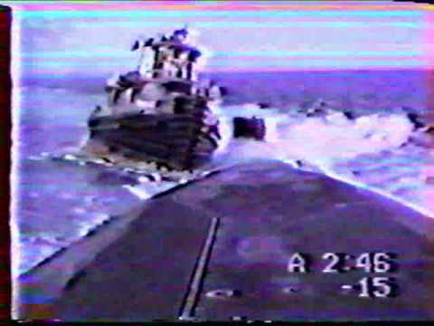 Sub sinks a tug boat there goes the mail