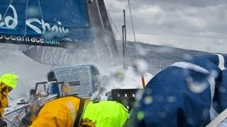 Telefonica Big Wave Crashes | Volvo Ocean Race 2011-12