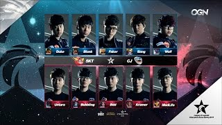 SKT vs CJ Game 1 Highlights - SK TELECOM T1 vs CJ ENTUS - LCK Week 11 - SPRING 2016