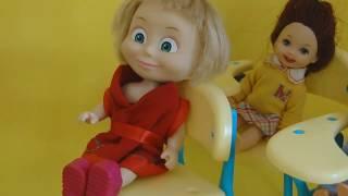 bajka Masza i Niedźwiedź po polsku Barbie wychowuje Maszę rzemieniem