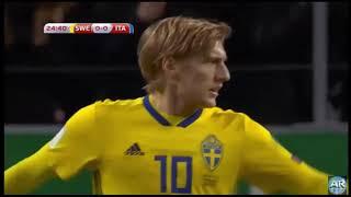 Swedia Vs Itali 1-0. 10 Nov 2017