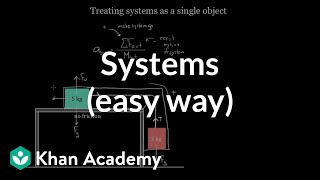 Treating systems (the easy way) | Forces and Newton's laws of motion | Physics | Khan Academy