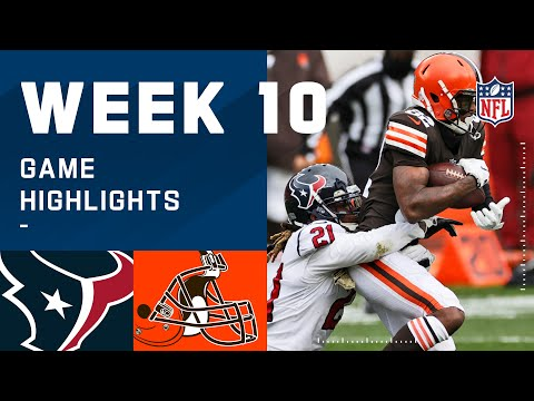 Texans vs. Browns Week 10 Highlights NFL 2020