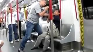전철 안에서 큰 싸움!