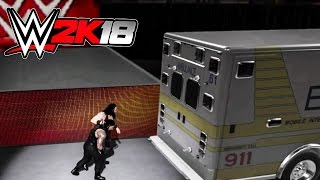 WWE 2K18 Ambulance Match NEW Feature! (Concept Gameplay)