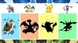 Blastoise, Charizard, Pikachu, Greninja - Pokemon And Military Style.