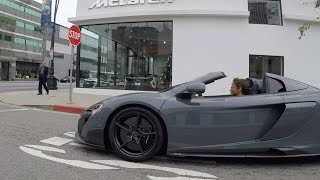 The Delivery - F1 Champ Jenson Button picks up his McLaren 675LT Spider
