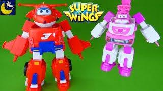 Super Wings Toys Transforming Jett's Super Robot Suit Vehicle Dizzy's Rescue Tow Transform Toys