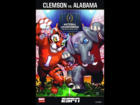 2016 National Championship Clemson vs Alabama with Clemson Radio Call