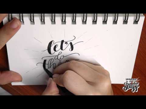 Hand lettering Tutorial 1 - Let's Do This