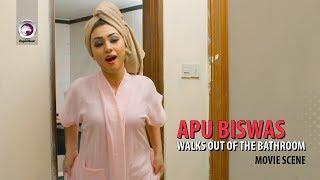 Apu Biswas Walks out of the Bathroom   Movie Scene   Shakib khan & Apu Biswas