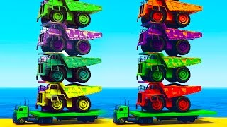 Fun Color Truck on Cars with Spiderman Cartoon Videos for Kids - Learn Colours for Children