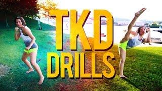 TKD Drills: Footwork & Kicks