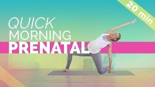 Quick & Easy Prenatal Morning Yoga Routine (20-min) For All 3 Trimesters