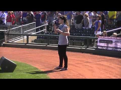 Athena Creese National Anthem - MLB