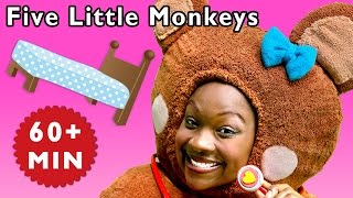 Five Little Monkeys and More | Bedtime Numbers Game | Baby Songs from Mother Goose Club!