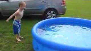 A cold dip in the pool at 9 in the morning