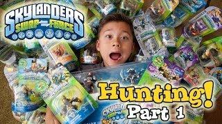 """Skylanders SWAP FORCE HUNTING - PART 1 (Wave 1) - Toys """"R"""" Us, Walmart, Target & Gamestop Shopping!"""