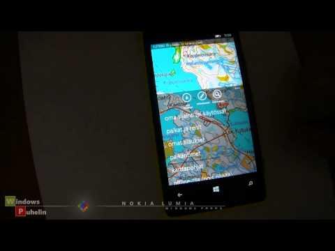 Nokia Lumia 920, Maastokartat: Karttaselain (Topographic map, Finland/Norway)