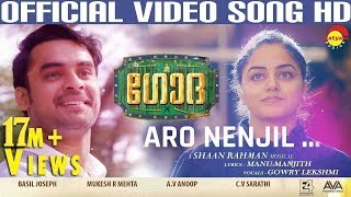 Aaro Nenjil Video Song with Lyrics | Godha Official | Tovino Thomas | Wamiqa Gabbi | Shaan Rahman